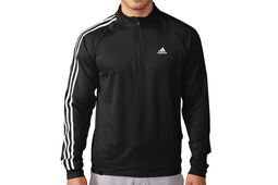 adidas Golf 3 Stripes 1/4 Zip Fleeced Windtop