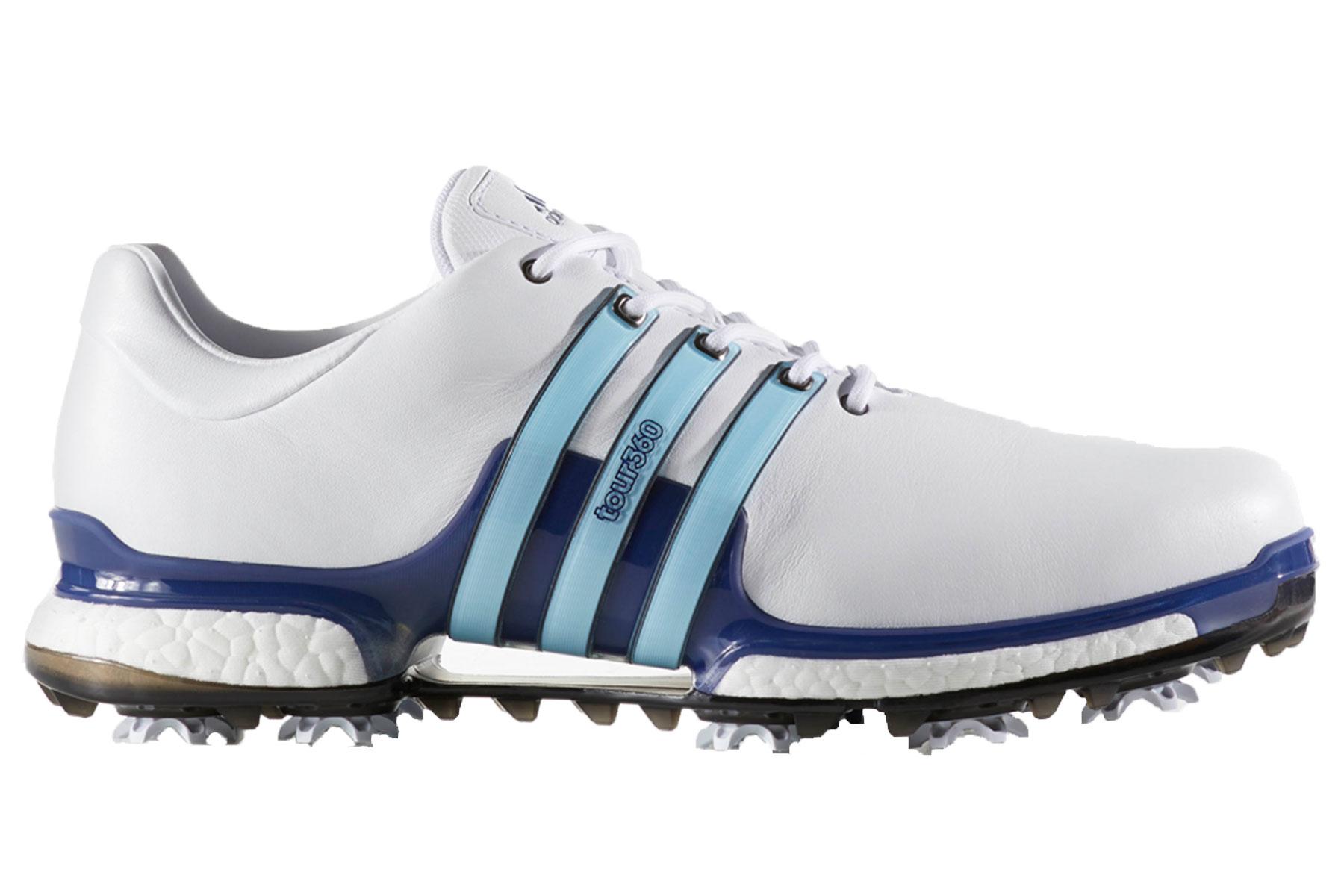 Adidas White Tour  Golf Shoes