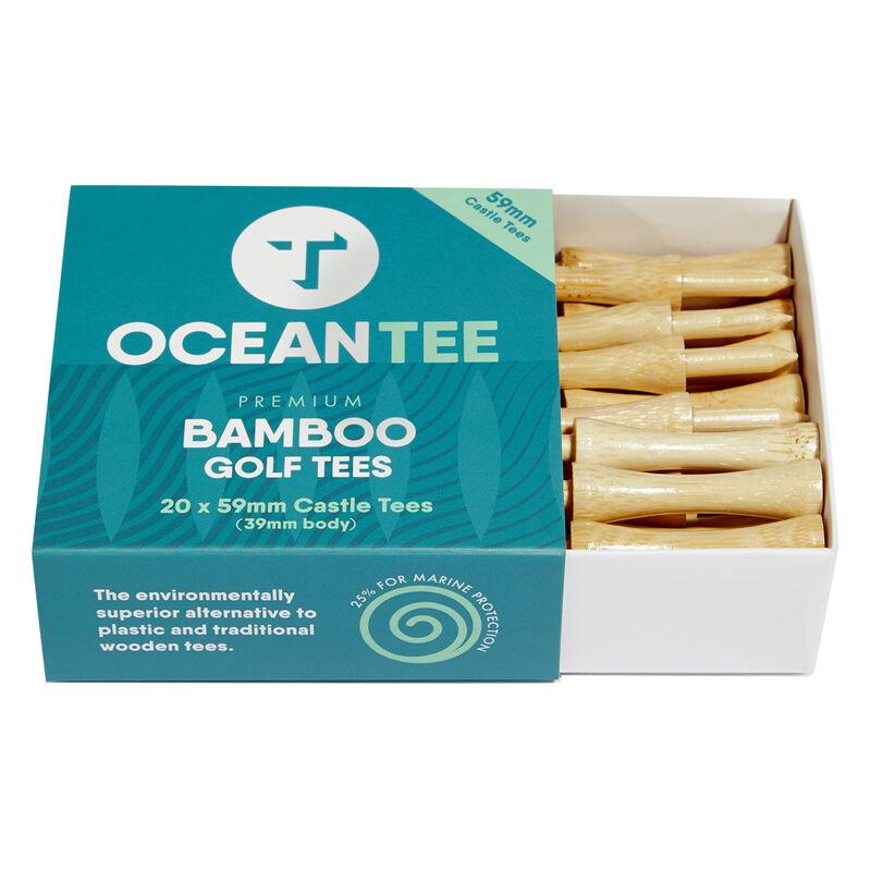 OCEANTEE 59mm Bamboo Castle Tees - 20 Pack, Male, Tees, Wood, 59mm | Online Golf