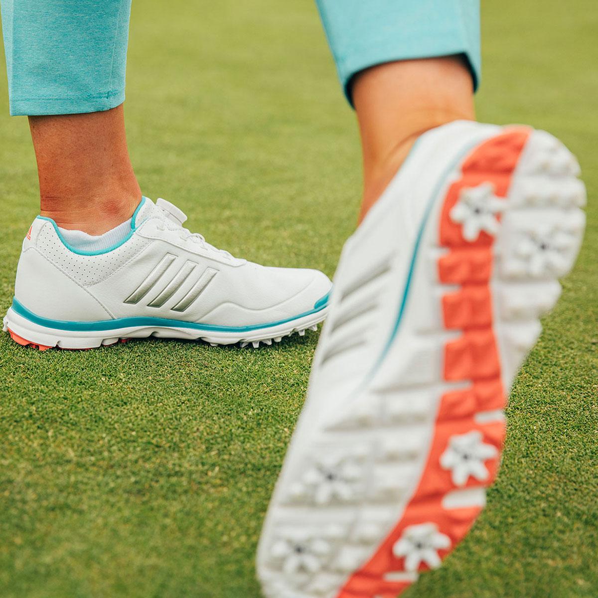 order on feet shots of big sale adidas Golf Ladies Adistar Lite BOA Shoes