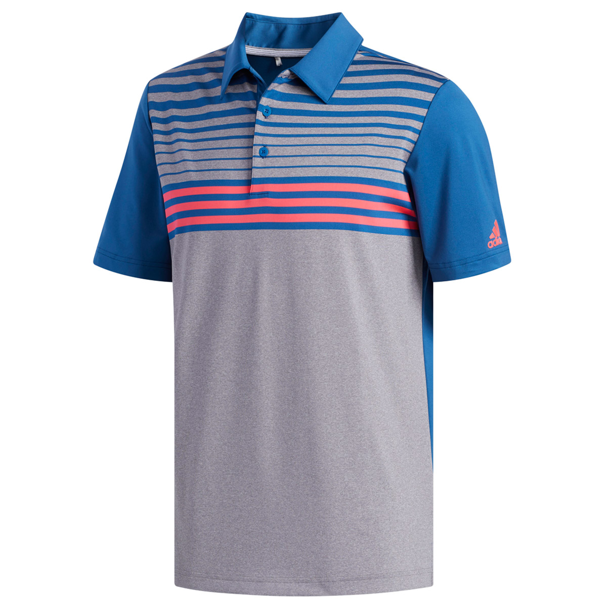 adidas Golf Ultimate 365 3 Stripe Heather Polo Shirt