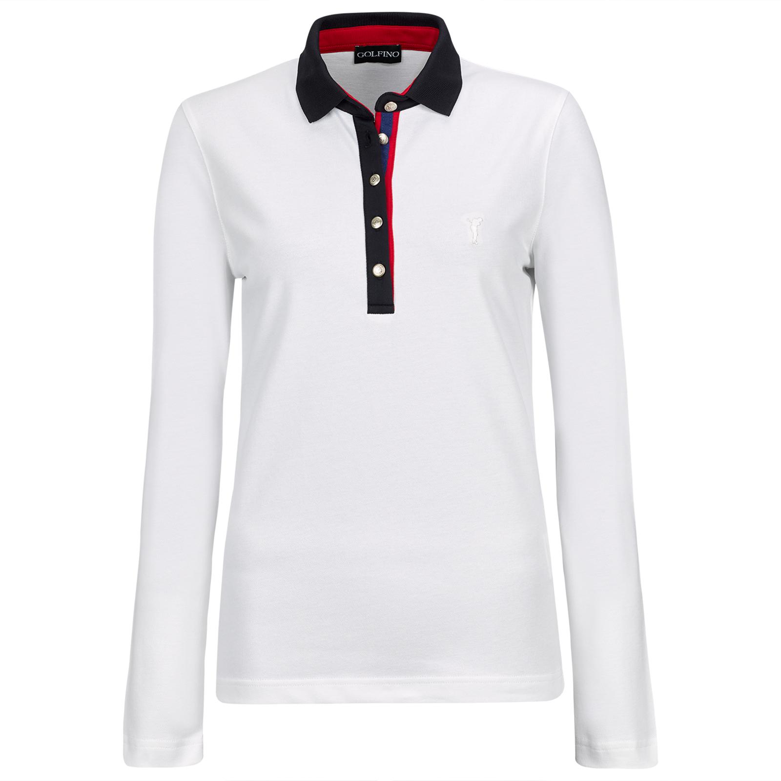 GOLFINO Ladies Tartan Long-Sleeve Polo Shirt | Online Golf