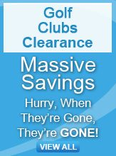 Golf Clubs clearance banner