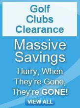 Golf Clubs clearance banner