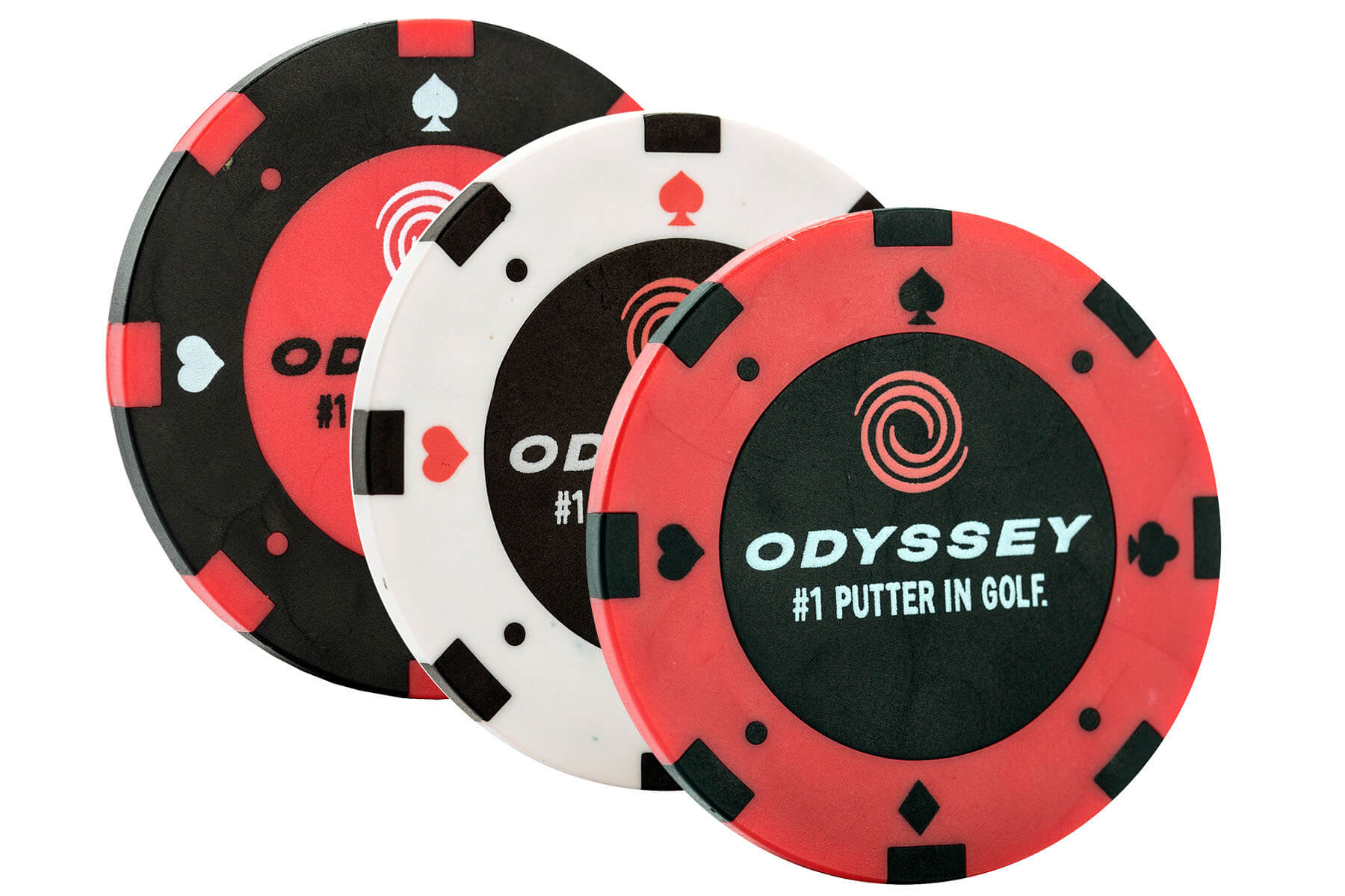 Odyssey Poker Chip Ball Markers - Pack of 3